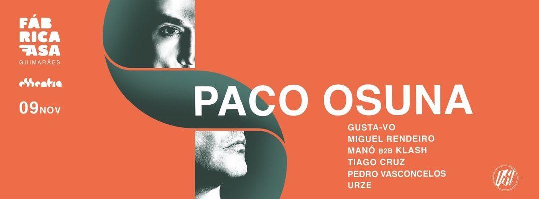 Cartell de l'esdeveniment Essentia presents Paco Osuna