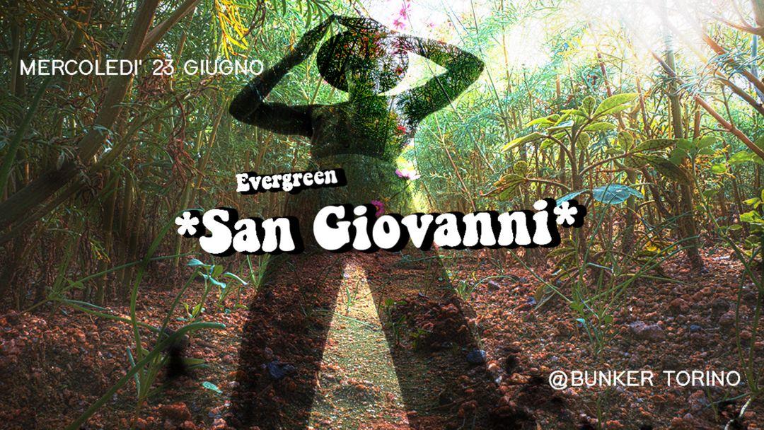 Evergreen SAN GIOVANNI-Eventplakat