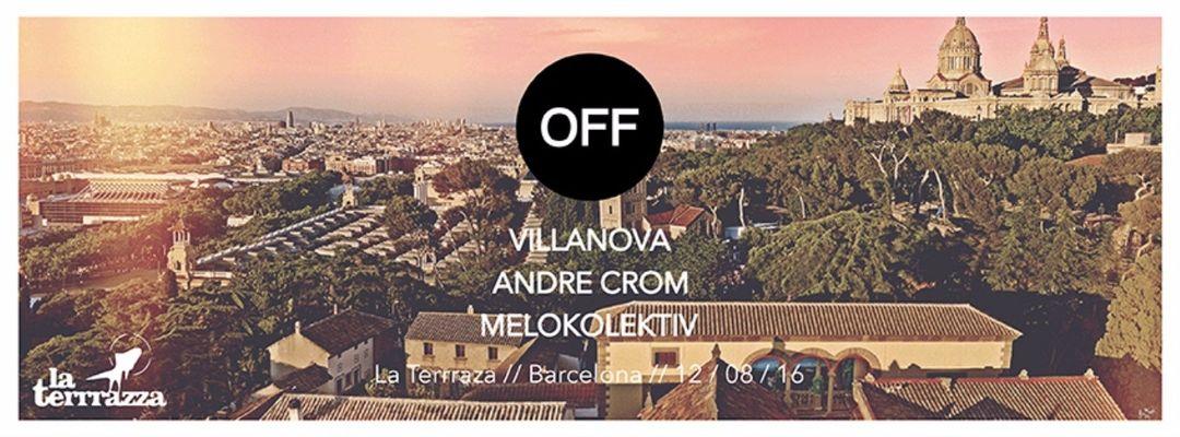 Cartel del evento F.U.N. with Off Recordings Showcase Villanova   Andre Crom   Melokolektiv