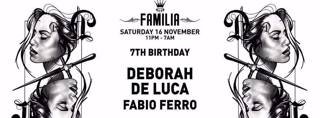 FAMILIA 7TH BIRTHDAY DEBORAH DE LUCA (EXTENDED SET) FABIO FERRO event cover
