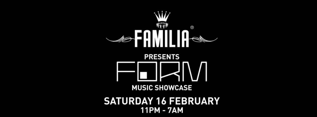 Capa do evento FAMILIA: FORM SHOWCASE WITH JULIAN JEWEIL, POPOF, MLADEN TOMIC
