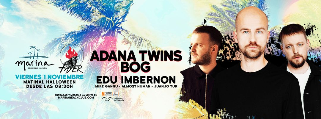 Fayer Matinal Halloween with Adana Twins, BOg & Edu Imbernon event cover
