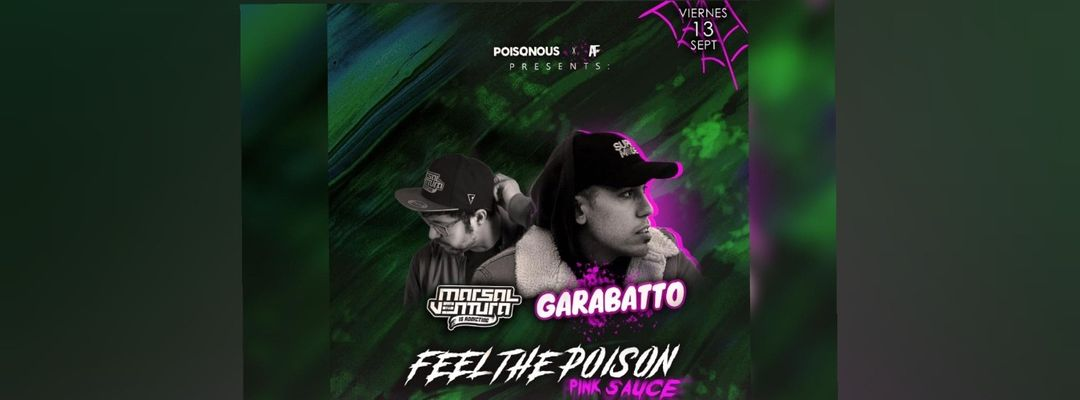 Cartel del evento FEEL THE POISON: PINK SAUCE