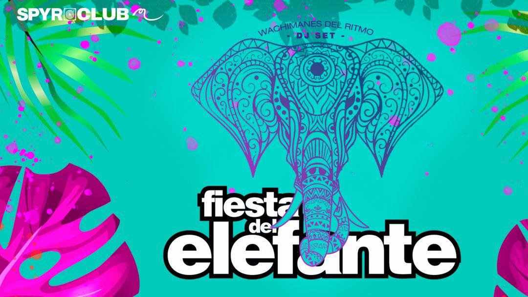 Cartel del evento Fiesta del Elefante