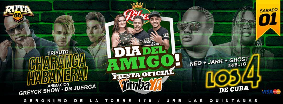Cartel del evento Fiesta Oficial - Día Del Amigo // RUTA  66