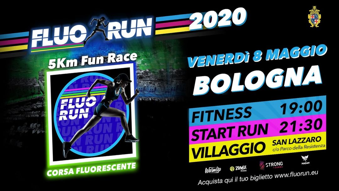 Copertina evento Fluo Run Bologna