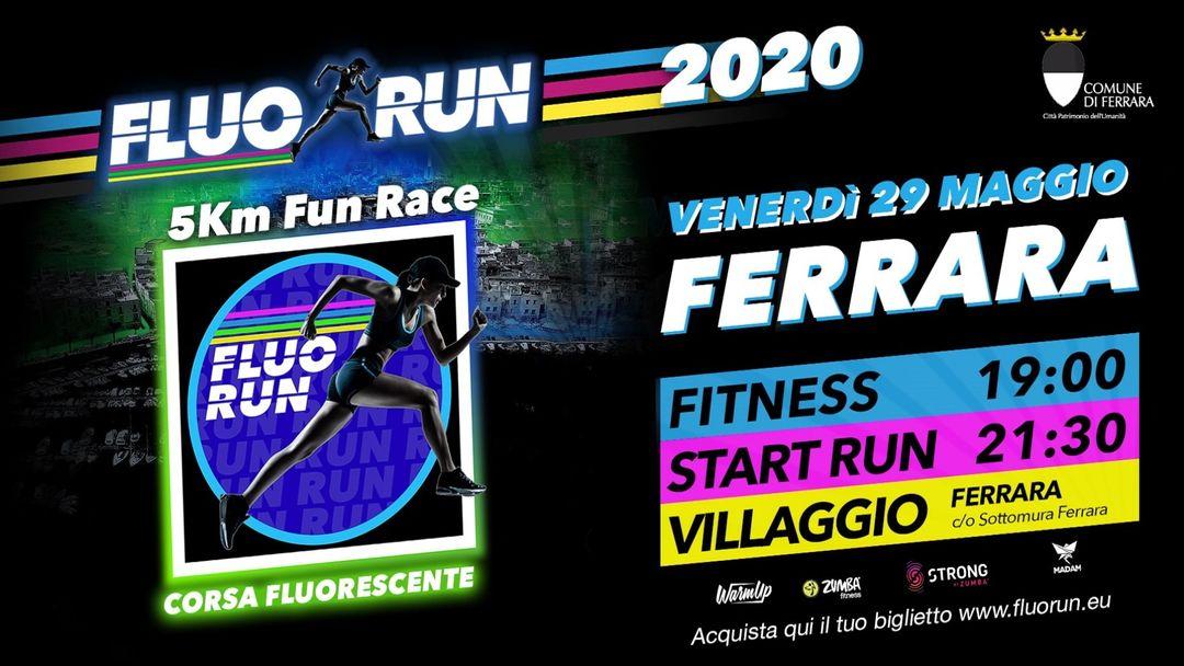 Cartel del evento Fluo Run Ferrara