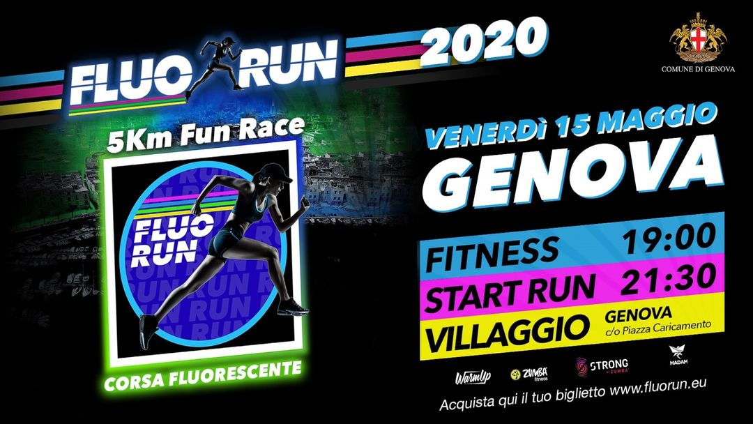 Fluo Run Genova event cover