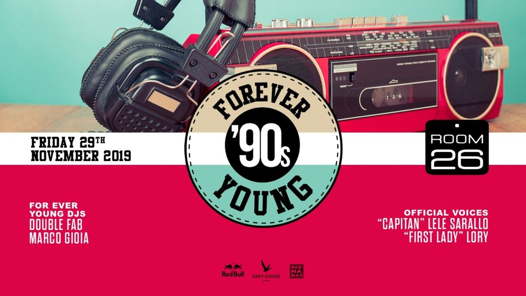 Forever Young '90s party-Eventplakat