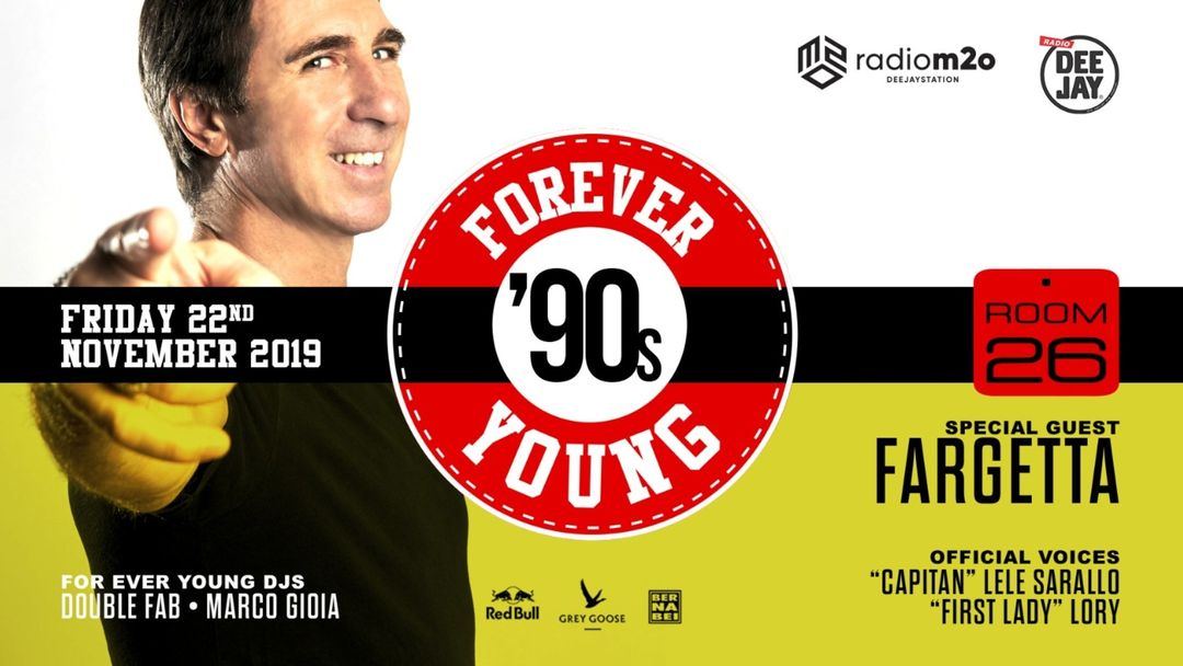Forever Young '90s party pres. GET FAR Fargetta-Eventplakat