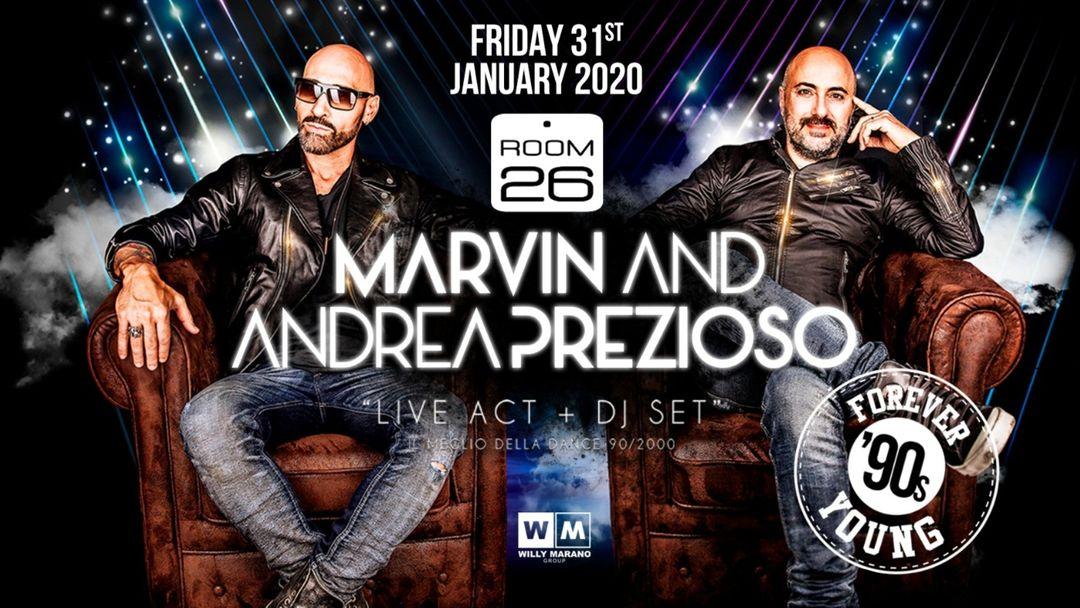 Cartel del evento Forever Young pres Marvin & Andrea Prezioso