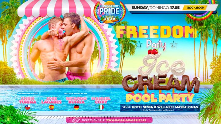 Cover for event: FREEDOM Party - Ice Cream Closing Pool Party - Official Event Maspalomas Pride 2020