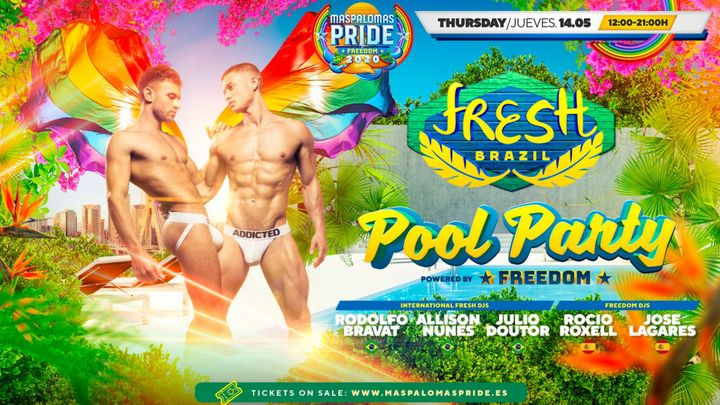 Cover for event: Fresh a Festa Brasil Pool Party - Official Event Maspalomas Pride 2021