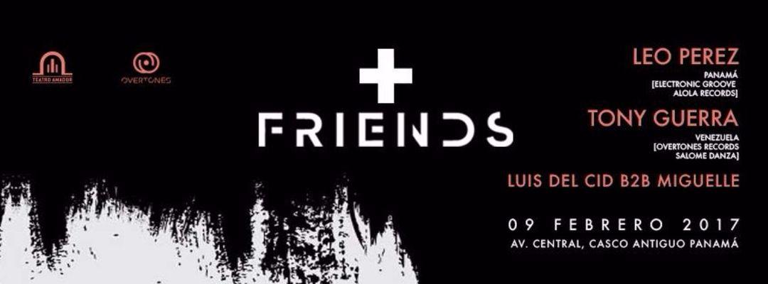 Cartel del evento +FRIENDS