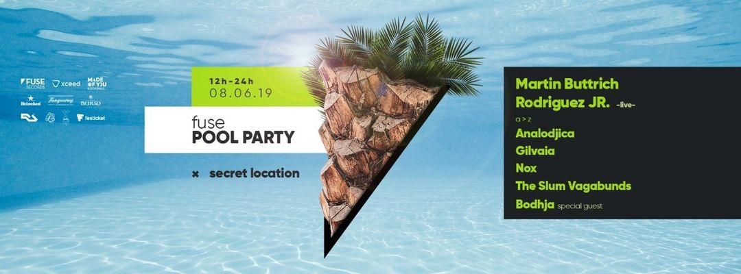 Fuse Pool Party: Martin Buttrich & Rodriguez Jr.-Eventplakat