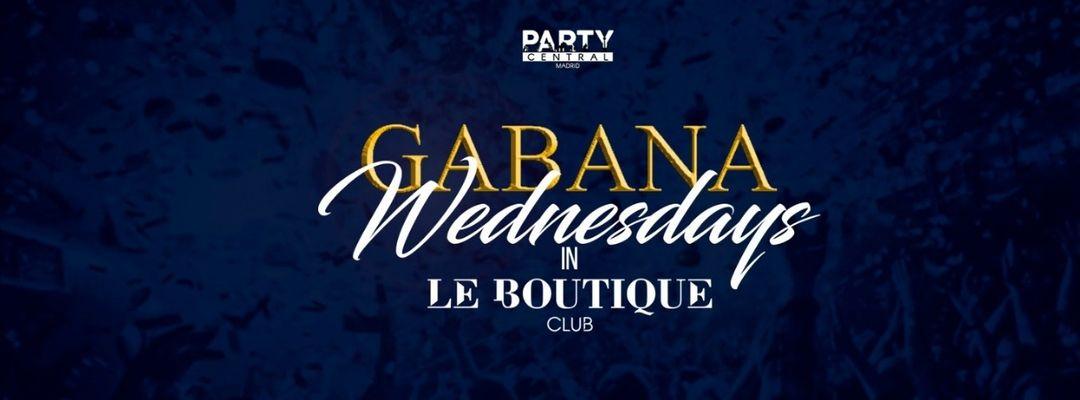 Cartell de l'esdeveniment #GABANAWEDNESDAYS  @ LE BOUTIQUE club