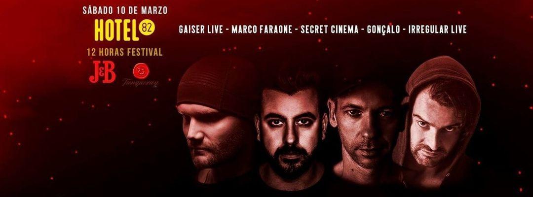 Cartel del evento Gaiser LIVE, Marco Faraone, Gonçalo - Fallas Festival | Hotel82