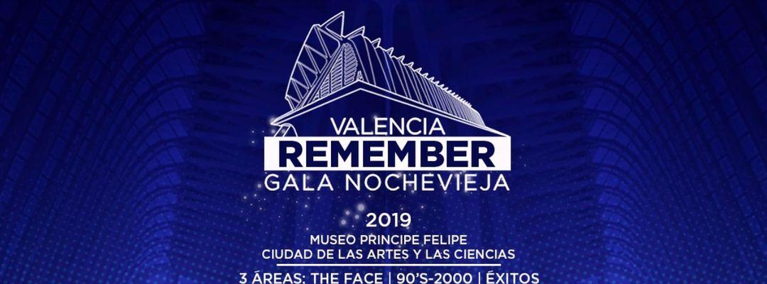 Cartel del evento Gala Nochevieja Remember Valencia