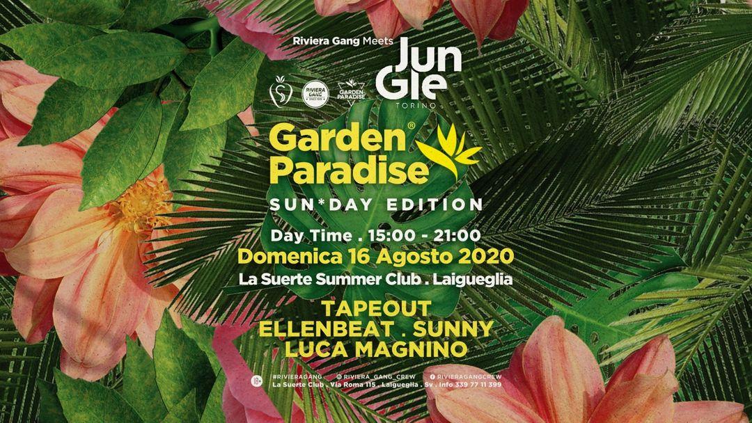 Garden Paradise - Sun*Day Edition - Daytime Party w/ JUNGLE-Eventplakat