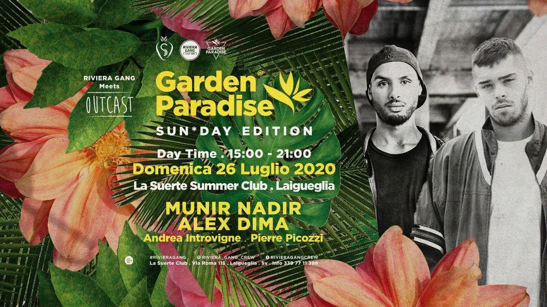 Couverture de l'événement Garden Paradise - Sun*Day Edition - Daytime Party w/ Outcast