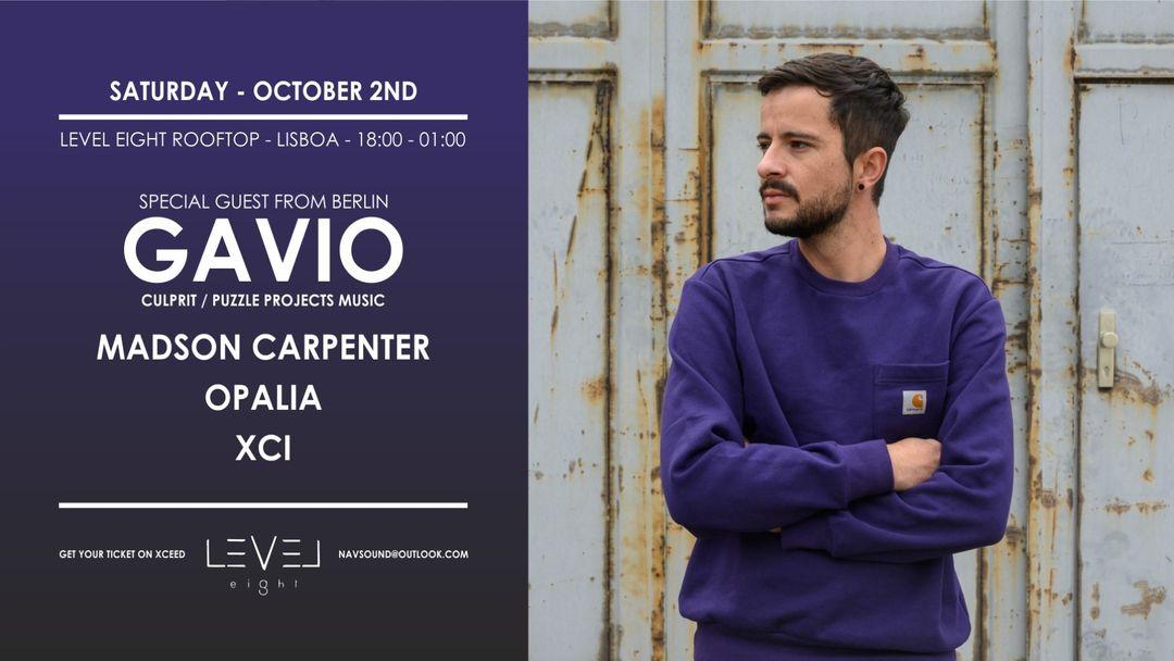 Cartel del evento GAVIO (Berlin/Madrid) at Level Eight Rooftop