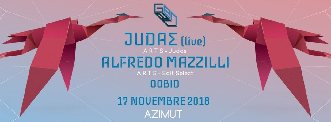 GENAU pres. JUDAΣ Live + ALFREDO MAZZILLI (A.R.T.S.) at Azimut event cover