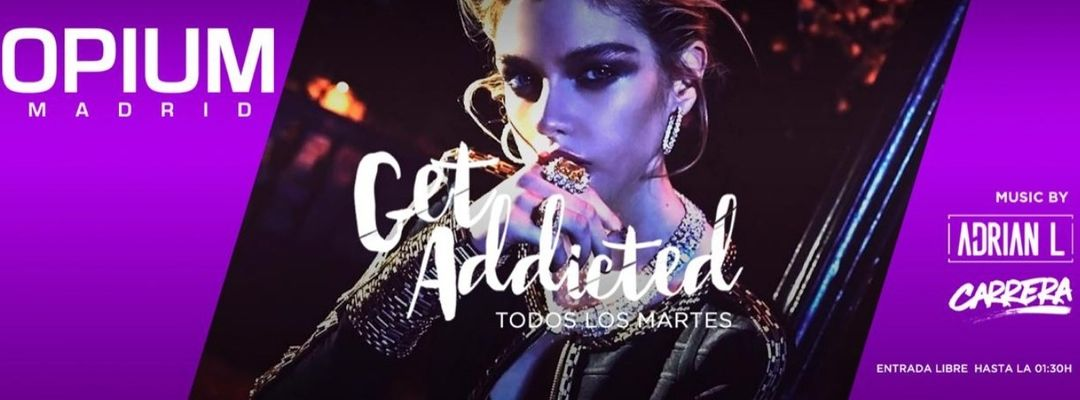 Get Addicted-Eventplakat