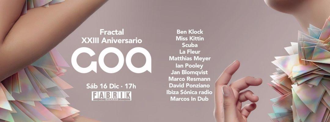 Cartel del evento Goa Aniversario | Ben Klock, Miss Kittin, Scuba & Matthias Meyer