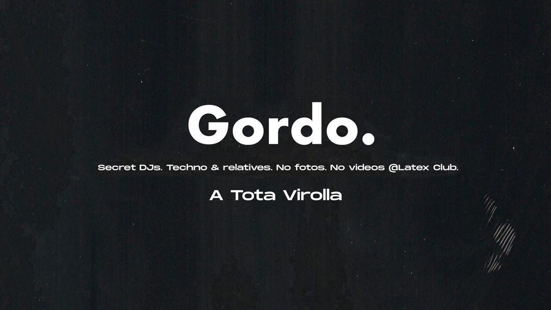 Cartel del evento GORDO en LÁTEX