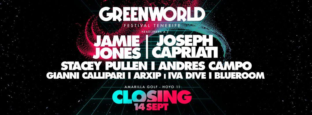 Greenworld Festival Closing | Jamie Jones & Joseph Capriati event cover