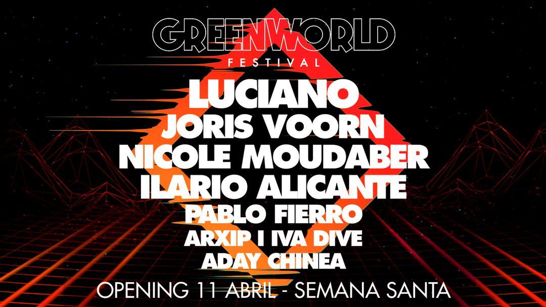 Cartel del evento GreenWorld Festival Opening 2020