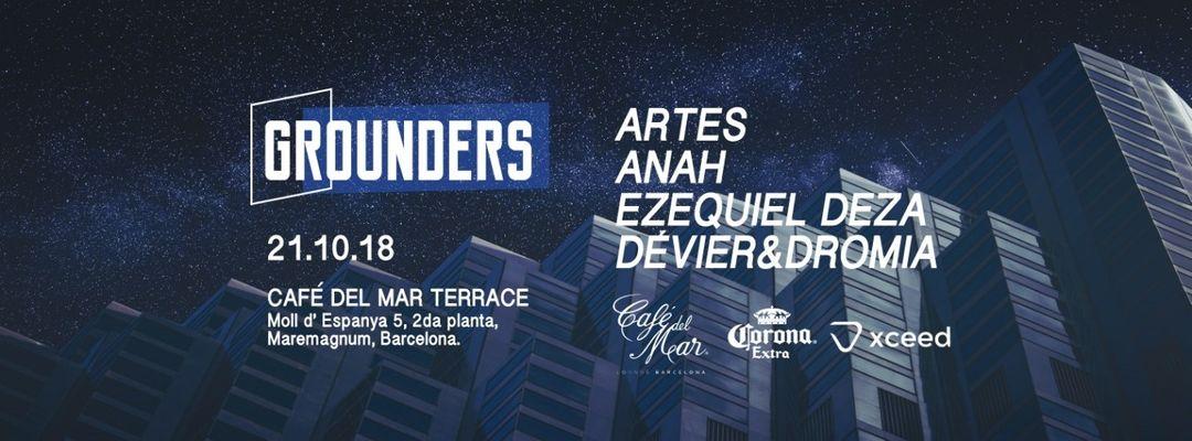 Cartel del evento Grounders at Café Del Mar with Anah, Artes & Deza