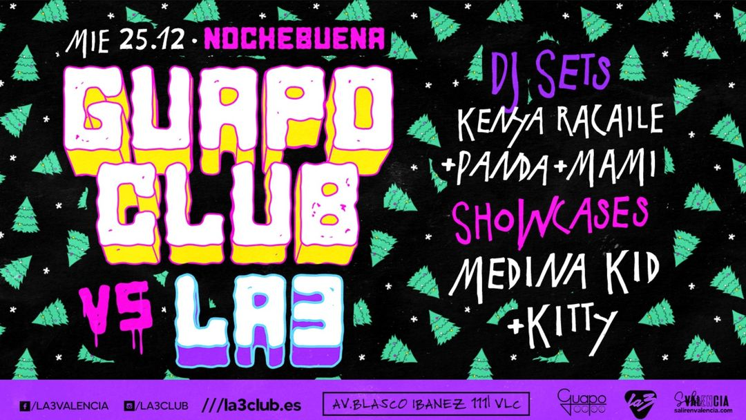 Capa do evento GUAPO CLUB VS LA3 CLUB: ESPECIAL NOCHEBUENA