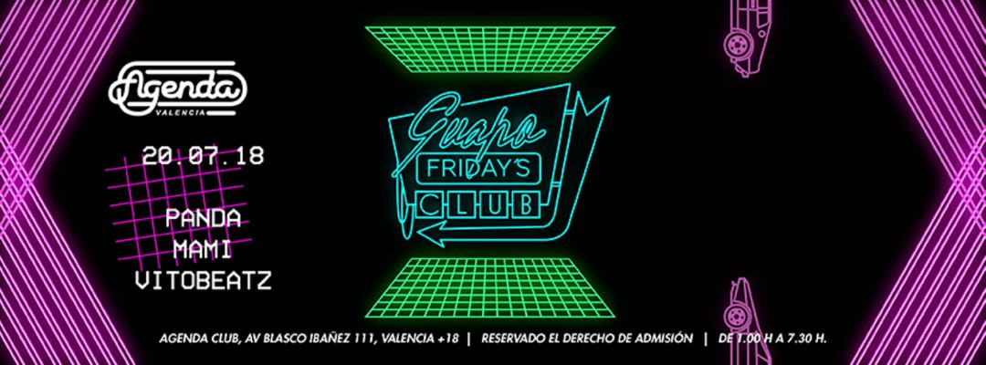 Capa do evento Guapo Fridays Club: Panda + Mami + Vitobeatz