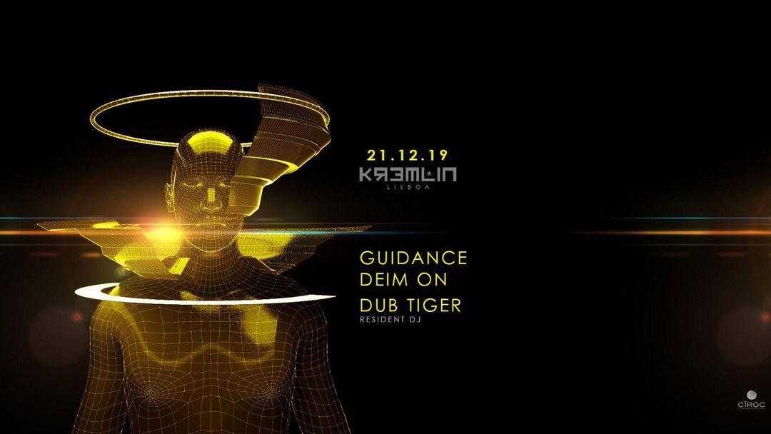 Cartell de l'esdeveniment Guidance, Deim On & Dub Tiger