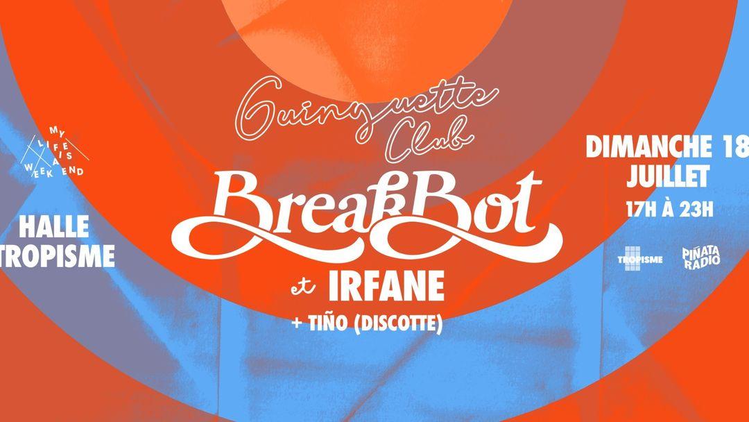 Guinguette Club w. Breakbot & Irfane-Eventplakat