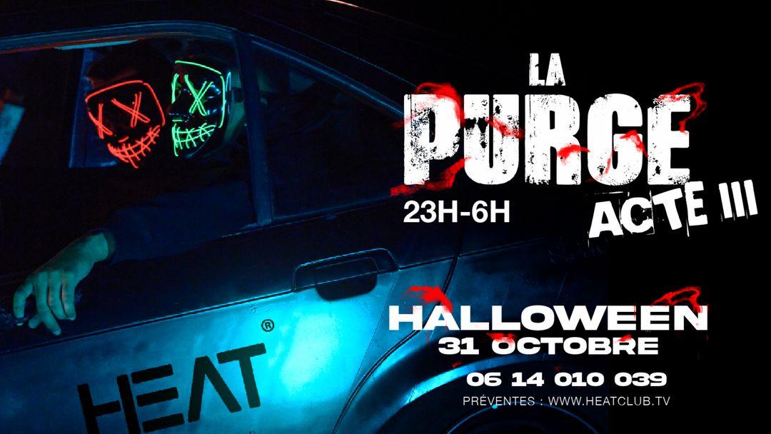 Cartel del evento HALLOWEEN LA PURGE ACTE III