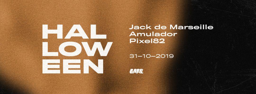 Halloween w/ Jack de Marseille, Amulador, Pixel82-Eventplakat