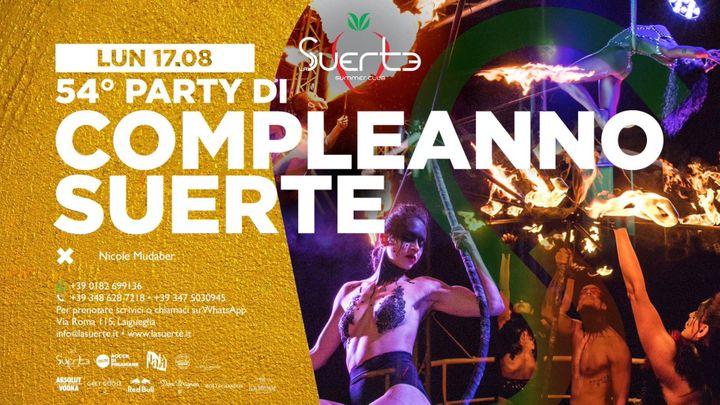 Cover for event: Happy Birthday Suerte +54 - Lun 17/08 - La Suerte Summer Club