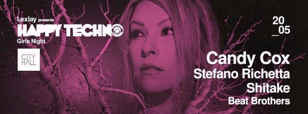 Cartel del evento Happy Techno presents Girls Night w/ Candy Cox