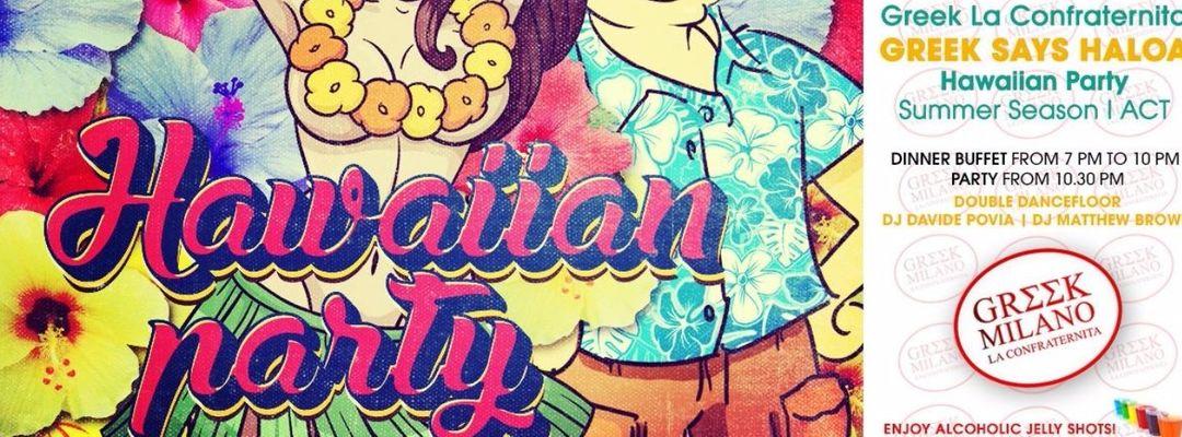 Cartel del evento Hawaiian Party