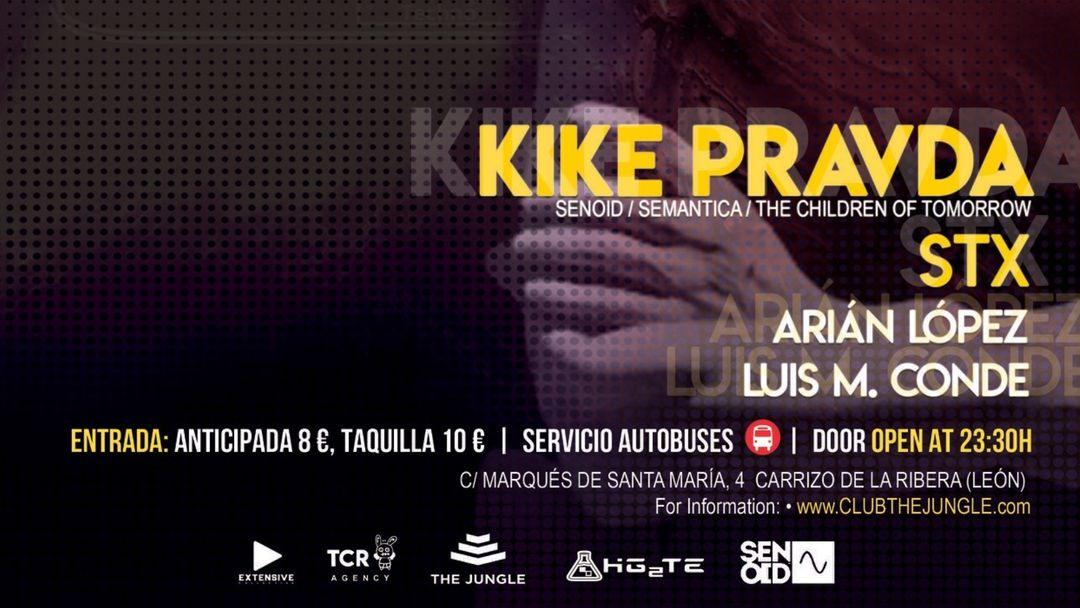 Cartel del evento Hg2Te Events (28/12/2019) Kike Pravda - STX