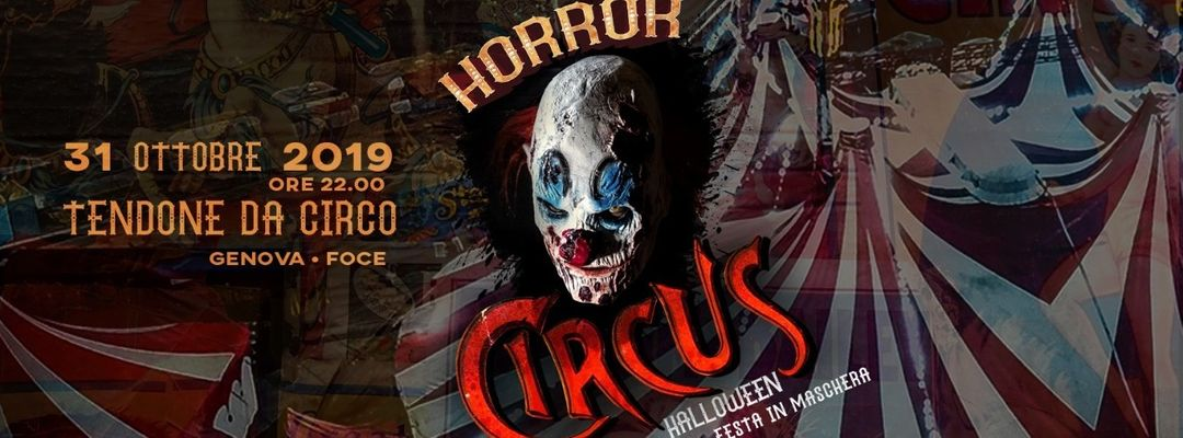 Horror Circus - Halloween party event cover