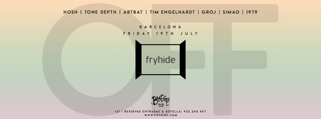 HOSH presents fryhide - Off Week 2019 event cover