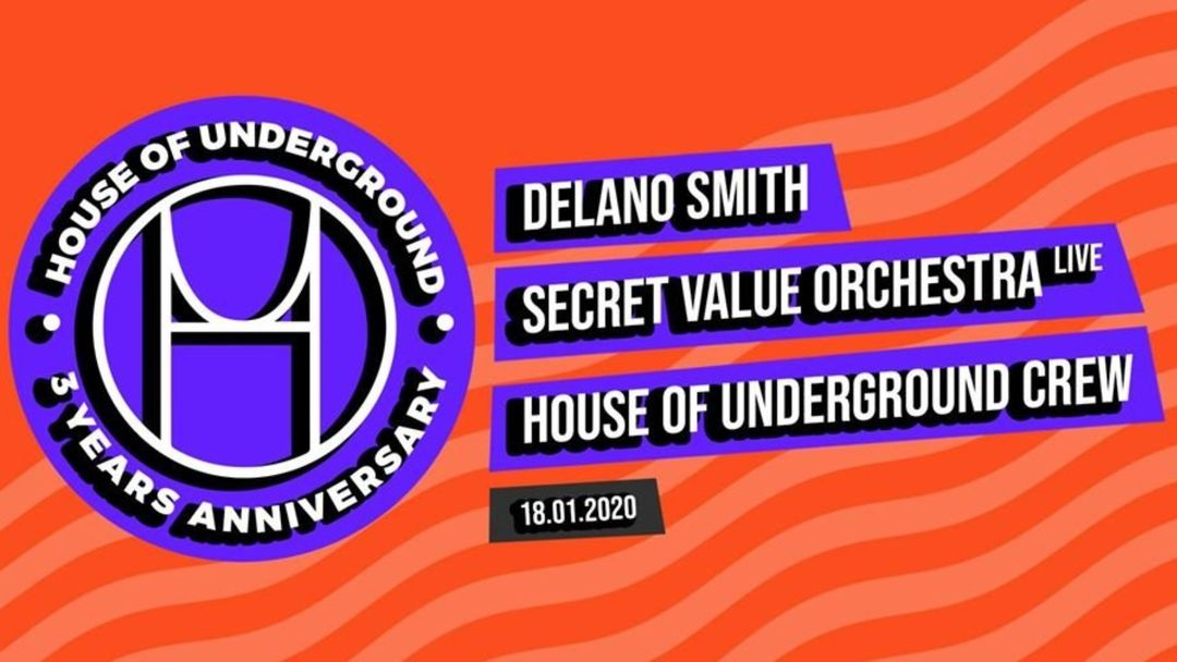 House Of Underground 3 Years Anniversary-Eventplakat
