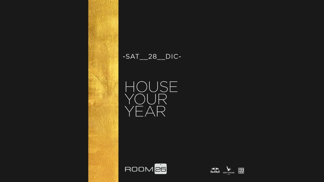 House your Year-Eventplakat
