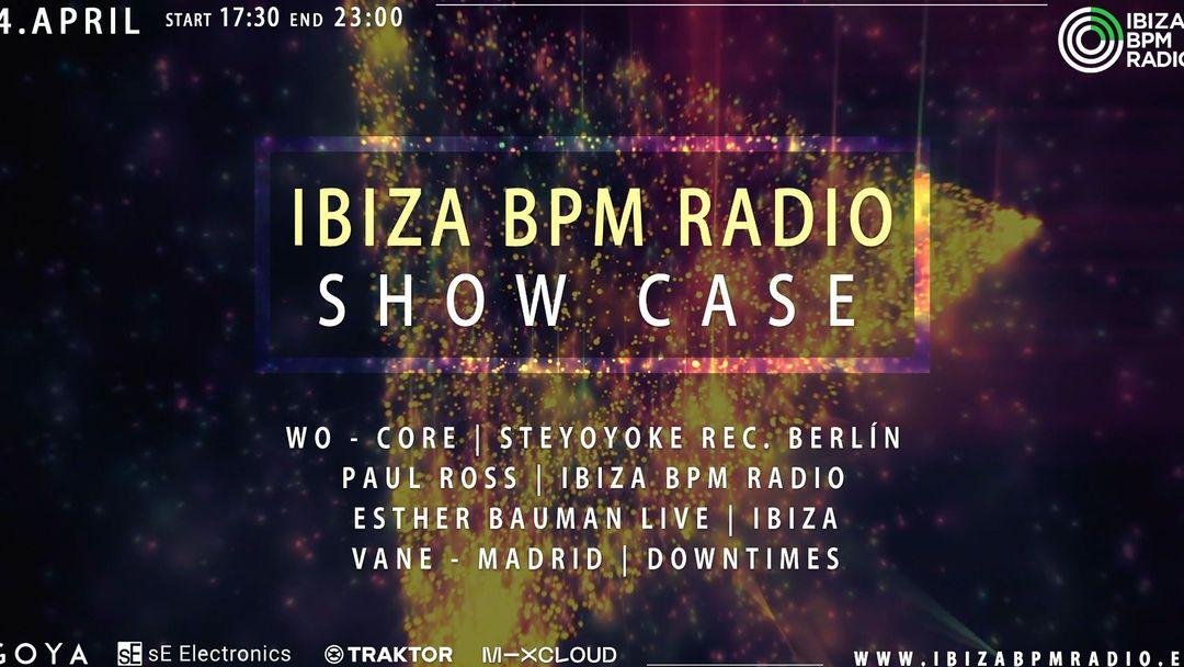 Cartel del evento Ibiza Bpm Radio Showcase