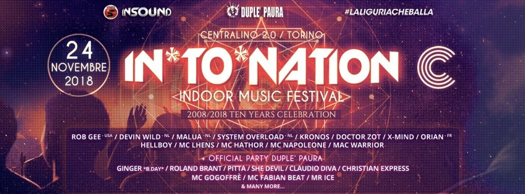 Cartel del evento In*To*Nation Music Festival | Centralino 2.0 | Torino