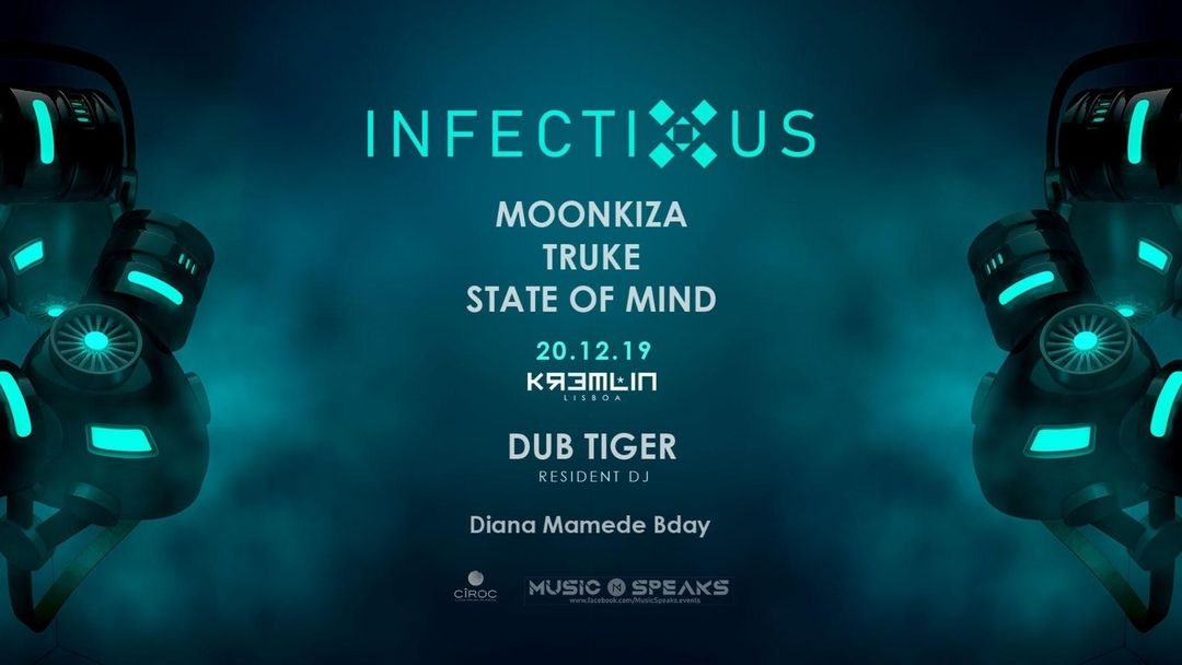 Infectious w/ Moonkiza event cover