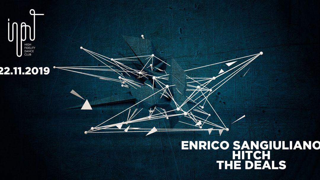 Cartel del evento Input presents Enrico Sangiuliano
